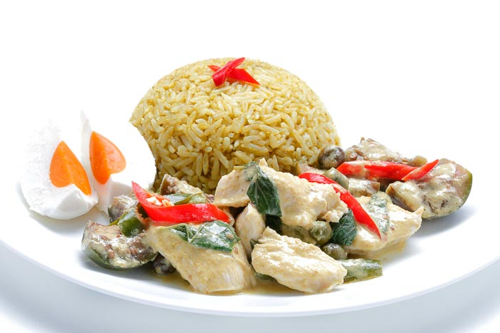 Green Curry Fried Rice & Stir Fried Chicken Green Curry & Salted Egg