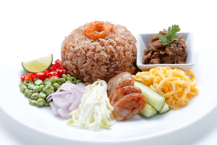 Shrimp Paste Fried Rice w/ Condiments