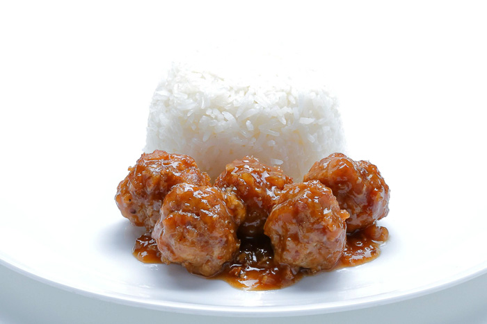 Rice w/ Garlic Pepper Pork Ball