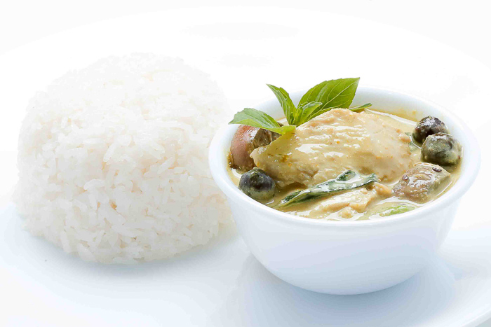 Rice w/ Royal Chicken Green Curry
